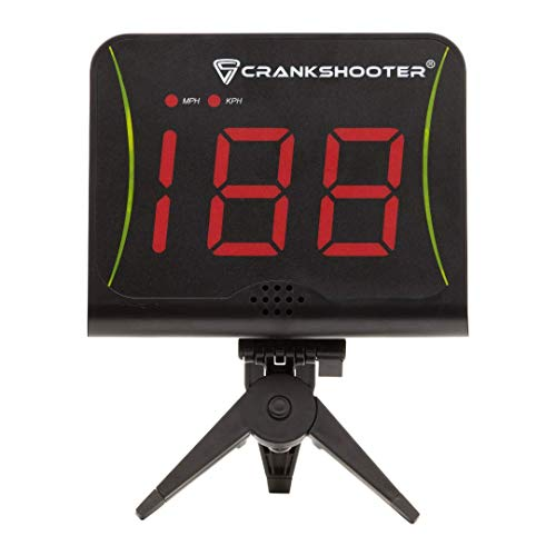 CRANKSHOOTER Radar - Shot Speed Radar with MPH and KPH Measurement - Free Standing Radar for Lacrosse, Baseball, Hockey, Soccer and More