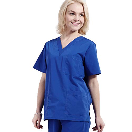 Engel Uniformen Damen Krankenschwester Anzug Medizinisches Peelingset mit V-Ausschnitt Medizinisches Anti-Falten-Peeling Top Top & Hose mit 3 Taschen Arbeitskleidung Medizinische Uniform,M