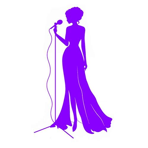 Autosticker, zanger, microfoon, sticker, afneembaar PVC, vinyl voor lichaam, kap, bagage, motorfiets, kajak auto decoratie 10 x 17,1 (5 stuks)