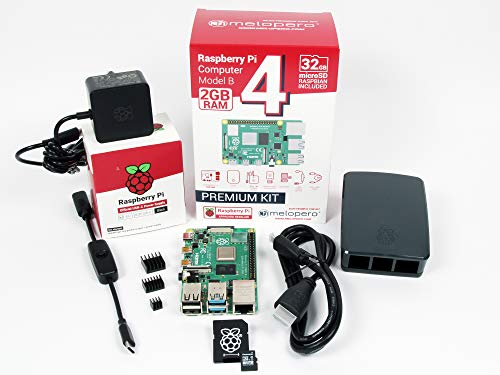 Raspberry Pi 4 Ordinateur 4 Go RAM OFFICIAL Premium Kit avec microSD 32 Go