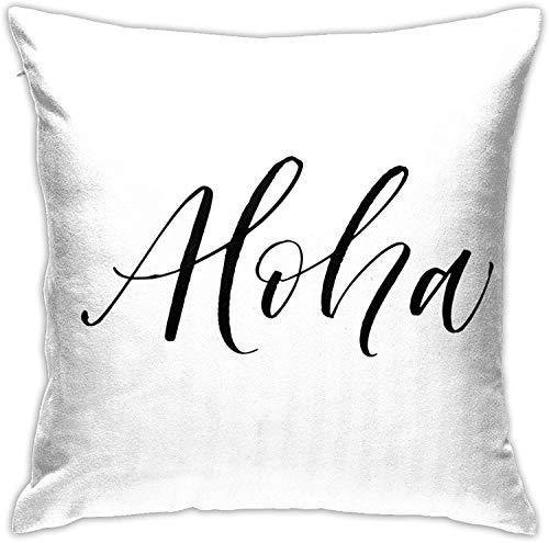 BONRI Aloha Caligrafía Fundas de Almohada Sofá Decoración para el hogar , (18'x18 / 45x45cm