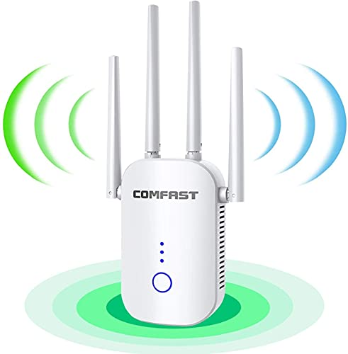 2021 WiFi Extender - Wireless Signal Repeater Booster up to 3000 sq.ft - 1200Mbps Wall-Through Strong WiFi-Dual Band 2.4G and 5G - 4 Antennas 360° Full Coverage