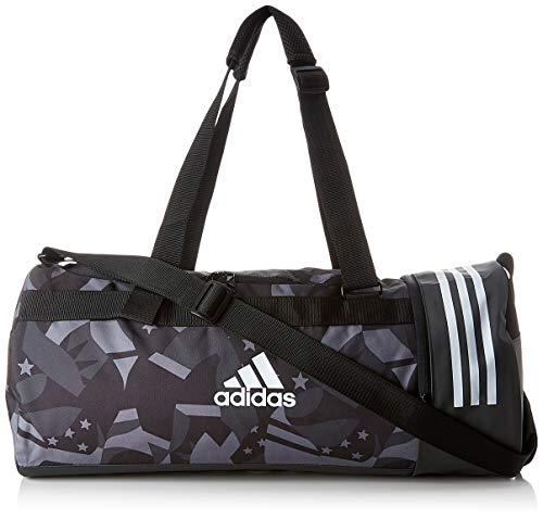 adidas 3S CVRT DUF MWG Bolsa Lona de Deporte, Unisex Adulto, Black/White/White, NS
