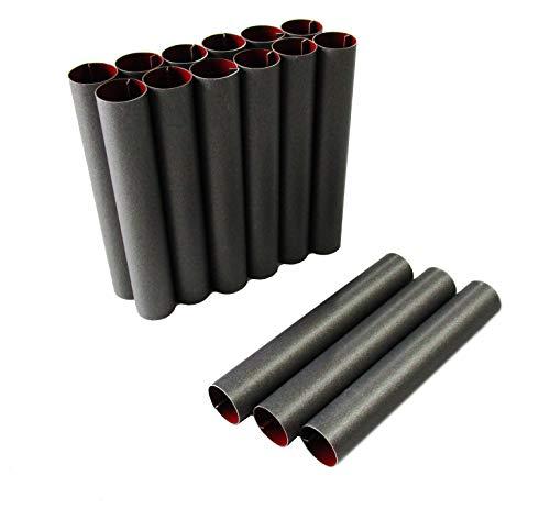 rukauf Cannoli Scoiattolo Stampo Set di 15 (8 cm x 1,3 cm) Rivestimento Antiaderente Tradizionale Molds Cannoli Form Tubes