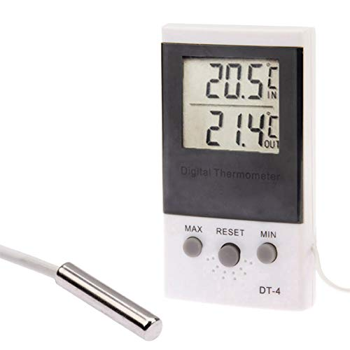 Sunshine20 Termómetro Multifuncional, termómetro Exterior/Interior, Temperatura del Monitor de higrómetro Interior Digital, Rango de Temperatura: Interiores: -50~70 ° C;Al Aire Libre: -50~70 ° C