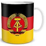 Tasse Flagge DDR Länder Flaggen Geschenk Souvenir Deutsche Demokratische Republik für Ost Nostalgiker Frauen Männer Arbeit Büro Kollegen