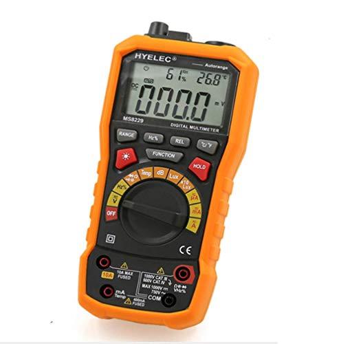 HYY-YY Multímetro digital de alta precisión de temperatura y humedad con pantalla digital de rango automático