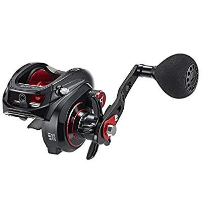 Piscifun Alijoz Size 300 Baitcasting Reels Low Profile Baitcaster Aluminum Frame Baitcast Fishing Reel, 33lb Drag 5.9:1/8.1:1 Gear Ratio Freshwater Saltwater Power Handle Casting Reels