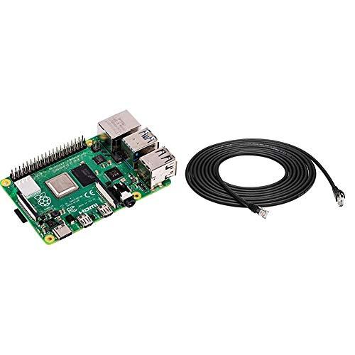 Raspberry Pi 4 Modell B 4GB ARM Cortex A72 4 x 150GHz 4GB RAM WLAN ac Bluetooth 5 LAN 4 x USB 2 x Micro HDMI Amazon Basics Ethernetkabel Cat6 knickgeschutzt 15 ft46 m 5 Stuck