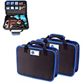 Tool box 370x290mm Multifunction Home Tool Bag Electrician Tool Electric Drill Storage Case Bag Canvas Thickening Toolbox Instrument Case toolbox (Color : Empty bag (no <span class='highlight'>tools</span>))