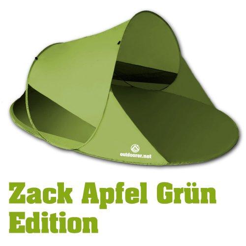 outdoorer Pop up Strandmuschel Zack II, grün, UV 60