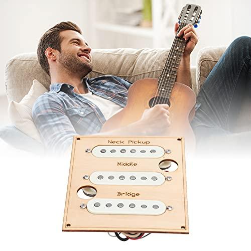 Juego de 3 pastillas de guitarra individuales de alto rendimiento Función de interruptor de timbre moderno/retro Milky Alnico 5 Pastilla de guitarra de metal magnético para amantes de la