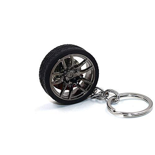 LivelyBuy Schlüsselanhänger Auto Felge Rad Reifen mit Bremse mit Keyring Miniatur-Dekoration mit accessary Souvenir Geschenk