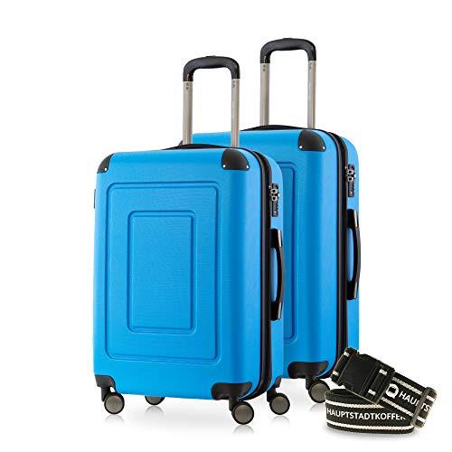 Happytrolley Lugano Juego de Maletas 66 Centimeters 78 Azul (Cyan Blau)