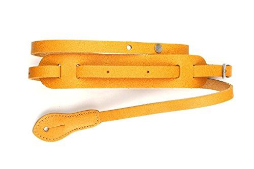 "LeatherGraft 49"" Length Tan Brown Genuine Leather Classic Mandolin Ukulele Instrument Strap"