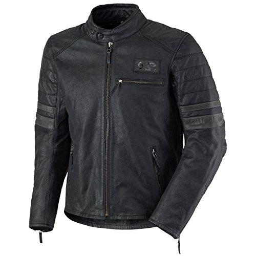Scott Moto VTG Blouson Leder Motorrad Jacke schwarz 2018: Größe: L (50/52)