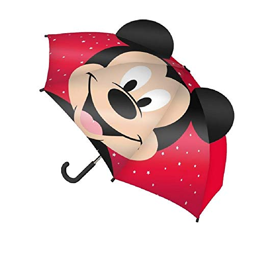 Accesorios lluvia mickey 2400000416 Paraguas Manual Pop-Up Mickey, RED, 62 x17 x17...