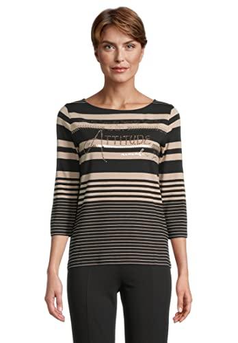 Betty Barclay 2068/2595 T-Shirt, Nero/Cammello, 54 Donna