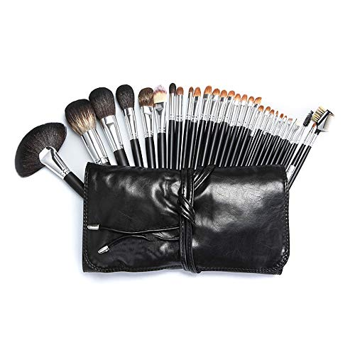 29 Pièce Professionnel Maquillage Pinceau Fondation Fond De Mélange Pinceau Poudre De Poudre Blush Correcteur Ombres À Paupières PU Cas Brosse à maquillage XXYHYQ