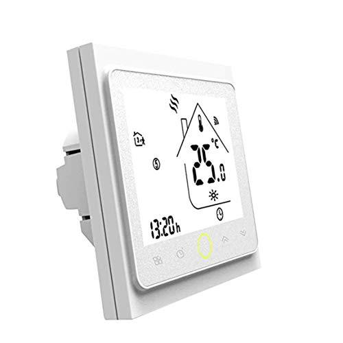 MEILUAIMU Termostato programable WiFi 5A para calefacción Individual de calderas de Gas/Agua Funciona con Alexa/Google Home Dry Contact