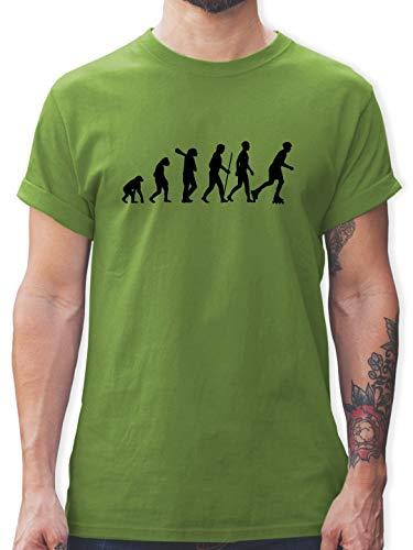 Evolution - Inliner Evolution - L - Hellgrün - Menschenaffe - L190 - Tshirt Herren und Männer T-Shirts
