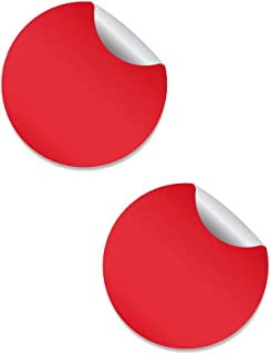Círculo Adhesivo Rojo. Diámetro Personalizado (2 Unidades)