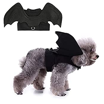 Rypet Dog Halloween Costume - Halloween Bat Wings Pet Costumes for Dogs Cats Halloween Party Large
