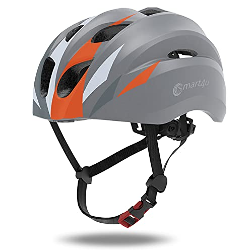 Smart4u SH20 Smart Bike Helmet, Bluetooth Connection for Music and One-Touch Phone Calls Bicycle Helmet Adult Road Cycling Helmets for Men & Women, Passed EN, CE, FCC, ROHS Safety Certifications