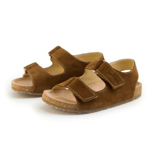 Joojos Infant/Toddler Suede Ergonomic Footbed 2-strap Slide Sandal for Girls/Boys