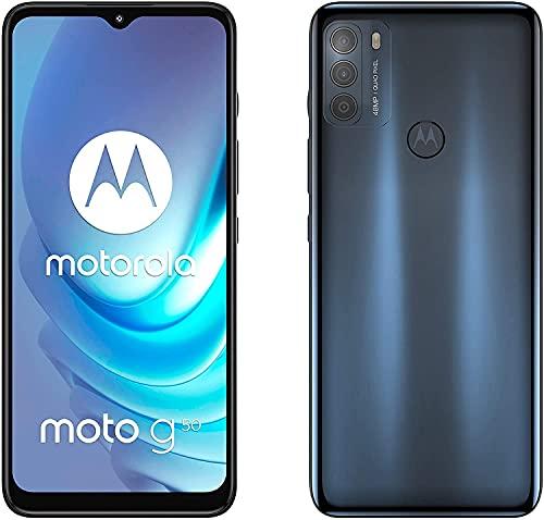 Motorola Moto G50 - Smartphone 128GB, 4GB RAM, Dual Sim, Steel Gray