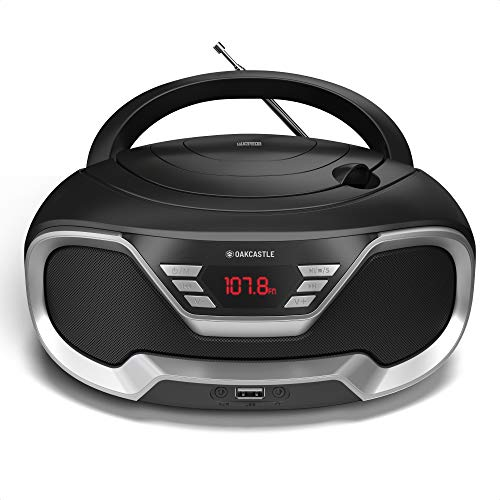 Oakcastle CD200 Portable CD Player Boombox with Bluetooth & FM Radio, 3.5mm...