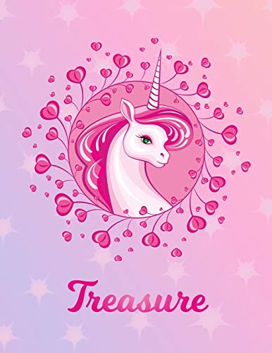 Treasure: Unicorn Sheet Music Note Manuscript Notebook Paper – Magical Horse Personalized Letter T Initial Custom First Name Cover – Musician Composer … Notepad Notation Guide – Compose Write Songs