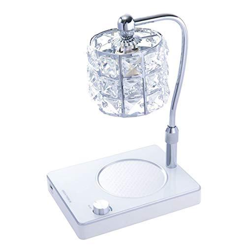QLIGHA Lámpara de Calentamiento de Velas de Cristal, lámpara de fusión de Cera de Vela Ajustable de elevación con Puerto USB, lámpara de Mesa de decoración del hogar con atenuación