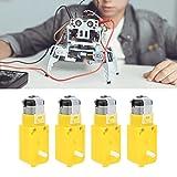 TT-Motor, 4 Stück Roter Kupfer-DC-Getriebemotor für wissenschaftliche elektronische Produkte für verschiedene elektrische Spielzeuge für DIY-Smart-Auto-Spielzeugroboter