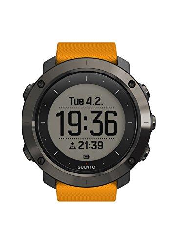 Suunto, TRAVERSE, Reloj GPS Outdoor para Excursionismo y Senderismo, Hasta 100 Hrs. de batería, Sumergible, Ámbar, SS021844000