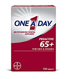 One A Day Proactive 65+ is a complete multivitamin specially formulated for men and women 65+ with key nutrients important for this age Contains key nutrients such asVitaminsB6, B12, and D, as well as Calcium and Magnesium Formulated tosupport cel...