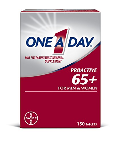 One A Day Proactive 65+, Mens & Womens Multivitamin, Supplement with Vitamin A, Vitamin C, Vitamin D, and Zinc for Immune Health Support*, Calcium, Folic Acid & More, 150 Count