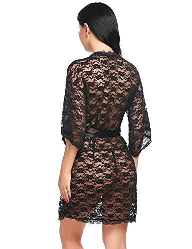 Pratiharye Babydoll Dress Above Knee Net Robe/Negligee with Bikini Set Hot & Sexy for Honeymoon/First Night Anniversary for Women/Girls- Pack of 2