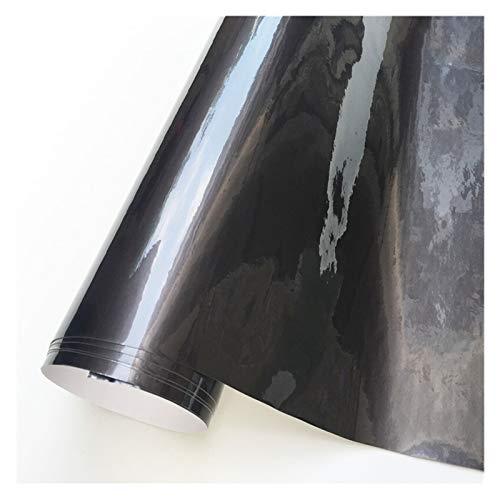 FUBANGBM Super Glossy Vinylverpackungs-Film Ultra-Süßigkeit Gloss Metallic Car Wrapping Folie Auto-Aufkleber-Blatt gepasst for Motor Computer-Möbel (Color Name : Grey, Size : 152X20 cm)