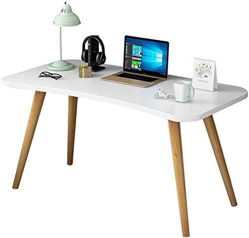 JINHH Tische Schreibtischmöbel Buche Beine Computer Schreibtische Unterstützt Laptops Desktop Office Einfache Montage Multifunktional (Farbe: Weiß)