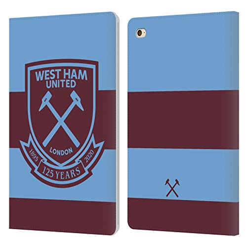 Official West Ham United FC Away 2020/21 Crest Kit Leather Book Wallet Case Cover Compatible For Apple iPad mini 4