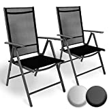 MIADOMODO Set di Alluminio Sedie da Giardino - Pieghevole, con Braccioli, Seduta Confortevole e...