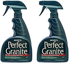 HOPE'S Granite Perfect Granite & Marble Countertop Cleaner, Stain Remover and Polish, Streak, Ammonia-Free, Pack of 2, 22 Ounce, 2 Pack