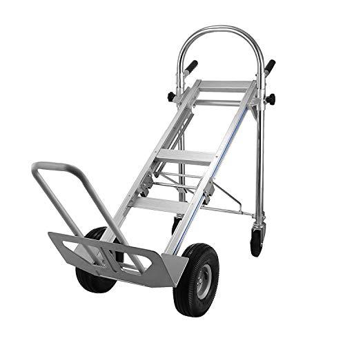 Mophorn Chariot de Transport Pliable Diable en Aluminium 3 en 1 Capacité de 450 kg Diable multi-usage