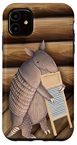 iPhone 11 Armadillo playing the washboard Case