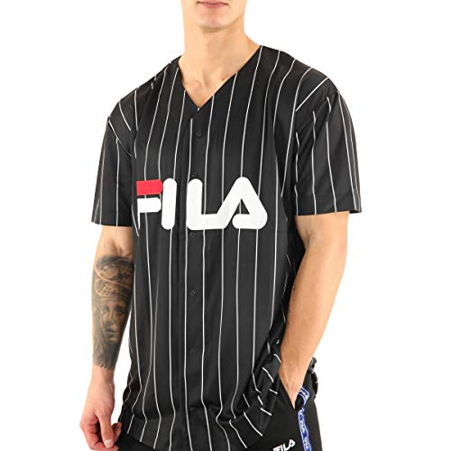 FILA T-Shirt Herren Dawn Baseball Tee 681272 Schwarz 002 Black, Größe:L