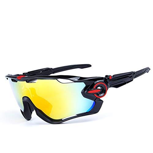 Ciclismo Deportivas Gafas De Sol,Moda Irrompible Conducir Gafas,Ligeras Aire Libre Deportes Polarizadas Protección UV Antideslumbrantes Vintage Gafas,Para Los Hombres Mujer Gafas-D 15.5x5.8cm(6x2inch)