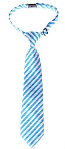 Retreez - Cravate pré-nouée pour garçon à rayures. - Bleu - 6- 18 mois