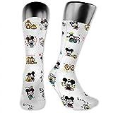 flys Christmas Special Lustige Fashion Sportsocken, Mickey Mouse Sticker Medium und Long, Unisex Socken