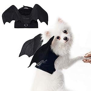 RYPET Pet Halloween Costume – Halloween Bat Wings Pet Costumes for Dogs Cats Halloween Party